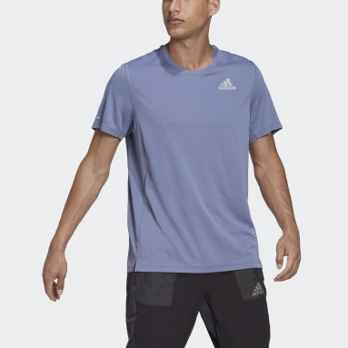 Playera de Running adidas HEAT.RDY Violeta Hombre Running
