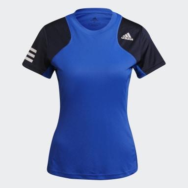Camiseta Club Tennis Azul Mujer Tenis