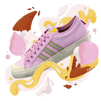 Originals Roze Nizza Schoenen