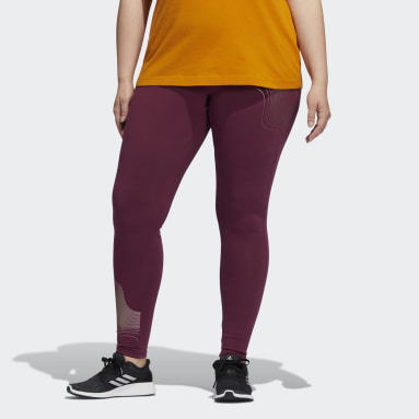 Women's Sportswear Burgundy Holiday Graphic Tights (Plus Size)