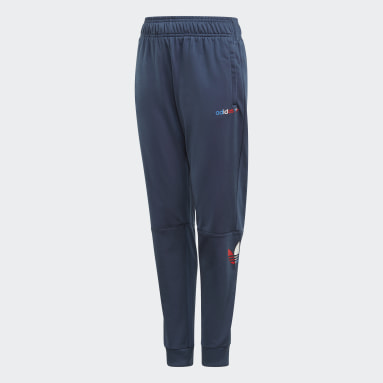 Youth 8-16 Years Originals Blue Adicolor Tracksuit Bottoms
