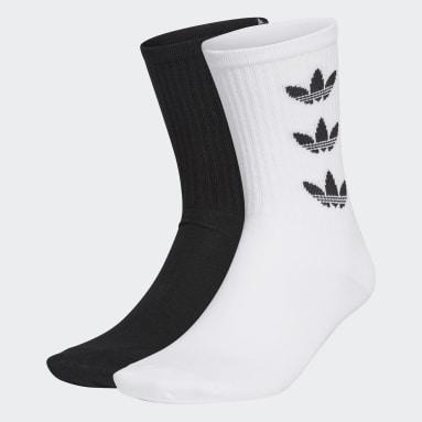Originals White Trefoil Cuff Crew Socks 2 Pairs