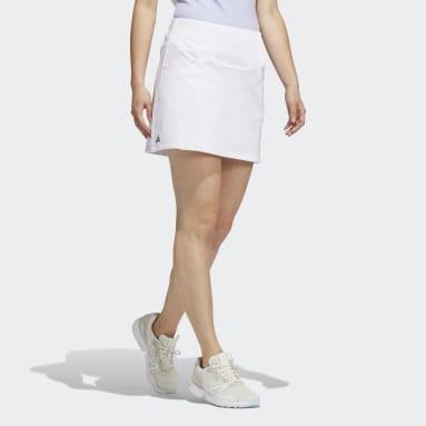 ผู้หญิง กอล์ฟ สีขาว กระโปรงกางเกง Primeblue
