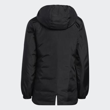 Youth Training Black Insulated Parka Jacket