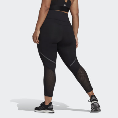Women Running Black How We Do Long Tights (Plus Size)