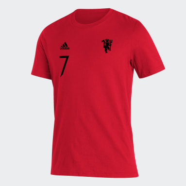 Men's Soccer Red Manchester United Player Tee