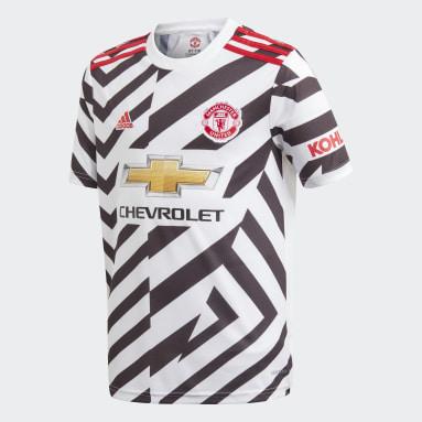 Kinder Fußball Manchester United 20/21 Ausweichtrikot Weiß