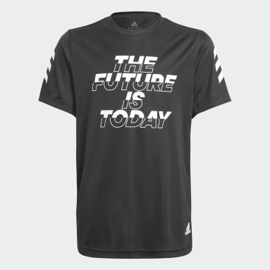 T-shirt XFG AEROREADY Primeblue Noir Garçons Fitness Et Training