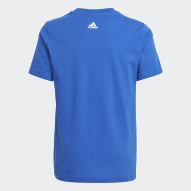 Youth 8-16 Years Sportswear Blue Graphic T-Shirt