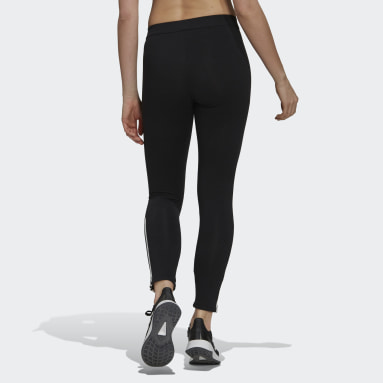 Women Sport Inspired Black Essentials Fitted 3-Stripes 7/8 Tights