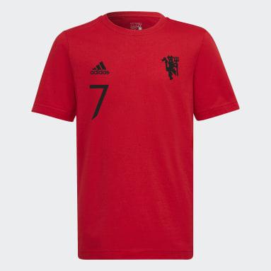 T-shirt Manchester United Graphic Rouge Garçons Football