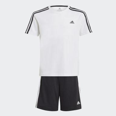 Αγόρια Γυμναστήριο Και Προπόνηση Λευκό adidas Designed 2 Move Tee and Shorts Set