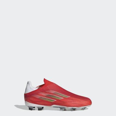 Scarpe da calcio X Speedflow+ Firm Ground Rosso Bambini Calcio