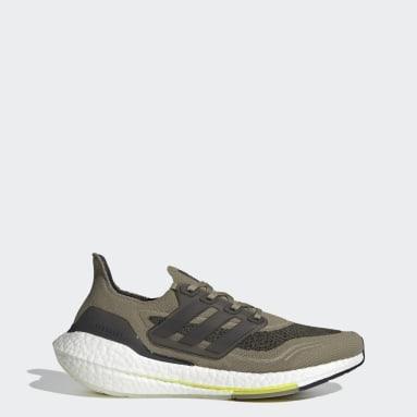 Heren Hardlopen Groen Ultraboost 21 Schoenen