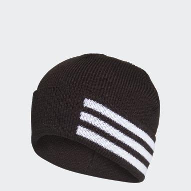 Hardlopen Zwart 3-Stripes Muts