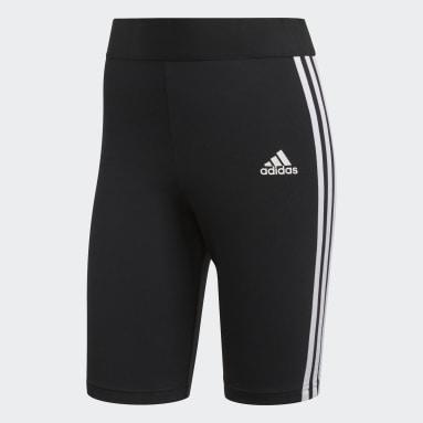 Women Sportswear Black Must Haves 3-Stripes Short Tights