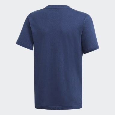 Camiseta Must Haves Badge of Sport Azul Niño Training