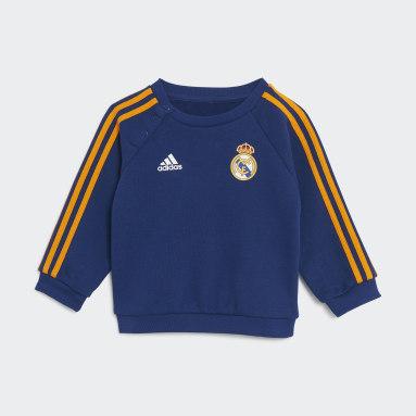 Infant & Toddler Soccer Blue Real Madrid 21/22 3-Stripes Baby Jogger Set