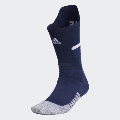 Football Blue Adizero Football Cushioned Crew Socks