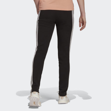Calças Skinny 3-Stripes Future Icons adidas Sportswear Preto Mulher Sportswear