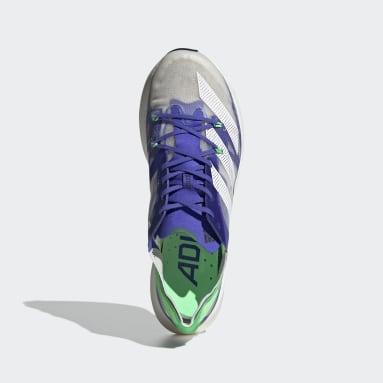 Running White Adizero Prime X Shoes