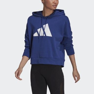 Felpa con cappuccio adidas Sportswear Future Icons Blu Donna Sportswear
