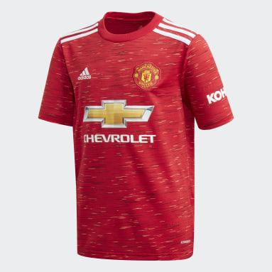 Camisa 1 Manchester United 20/21 Vermelho Meninos Futebol
