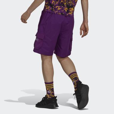 Short adidas Adventure Ripstop Cargo Viola Uomo Originals