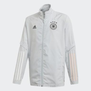 Kinder Fußball DFB Präsentationsjacke Grau
