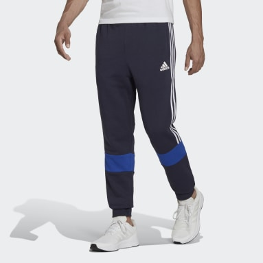 Men's Essentials Blue Essentials Fleece Colorblock Pants