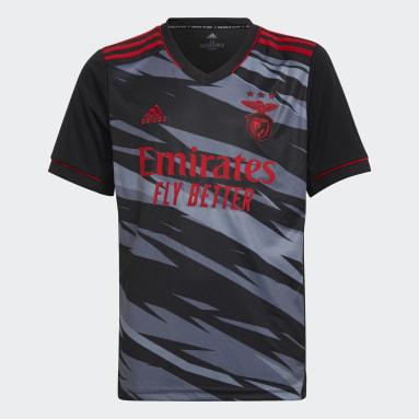 Børn Fodbold Sort Benfica 21/22 tredjetrøje