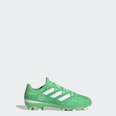 Children Soccer Green Gamemode Knit Firm Ground Cleats