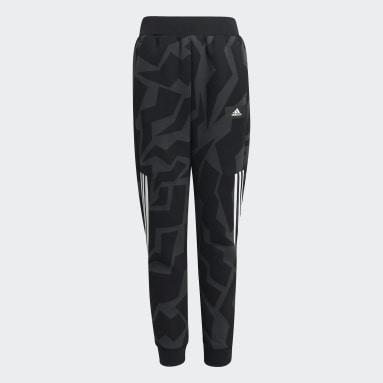 Jongens Sportswear Grijs Future Icons 3-Stripes Tapered-Leg Broek