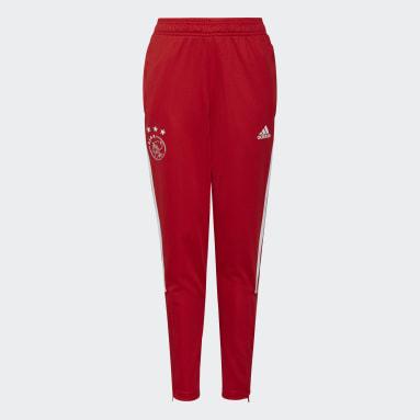 Děti Fotbal červená Tréninkové kalhoty Ajax Amsterdam Tiro
