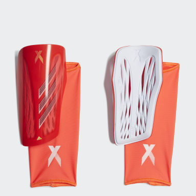 Protège-tibias X League Rouge Football