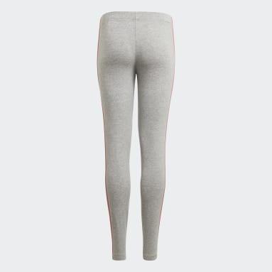 Girls Sportswear Grey adidas Essentials 3-Stripes Leggings