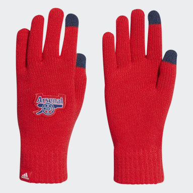 Football Red Arsenal Gloves