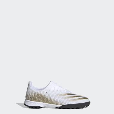 Zapatos de fútbol X Ghosted.3 Pasto Sintético Blanco Niño Hockey