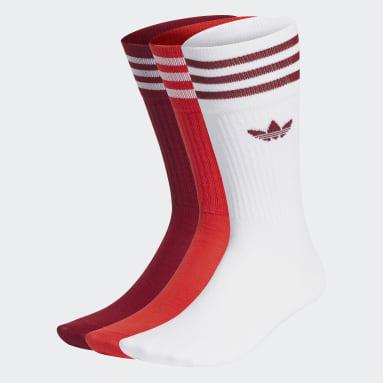красный Три пары носков Crew