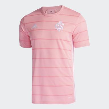 Camisa Outubro Rosa Internacional Rosa Homem Futebol