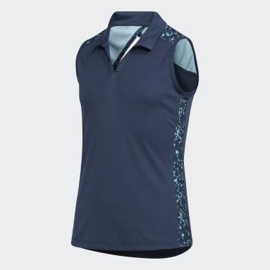 Polo Girls' Printed Racerback Sleeveless Blu Ragazza Golf