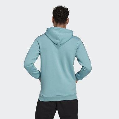 Felpa con cappuccio Essentials Fleece 3-Stripes Full-Zip Verde Uomo Sportswear