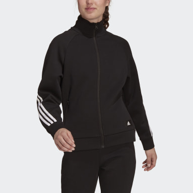 Chaqueta Deportiva adidas Sportswear Future Icons 3 Rayas Negro Mujer Sportswear