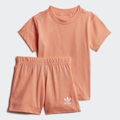 Conjunto Polera y Shorts Gran Trifolio (UNISEX) Naranjo Niño Originals