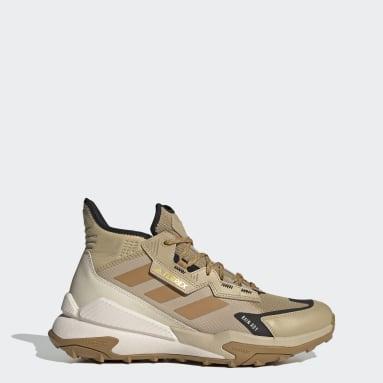 Zapatillas de Senderismo Terrex Hyperblue RAIN.RDY Corte Medio Beige Hombre TERREX