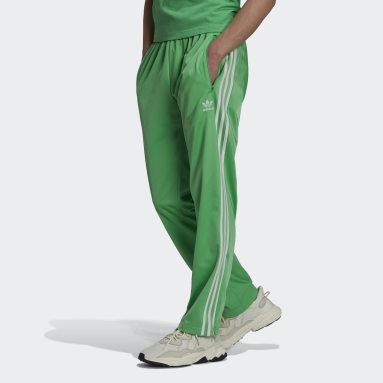 Muži Originals zelená Sportovní kalhoty Adicolor Classics Firebird Primeblue
