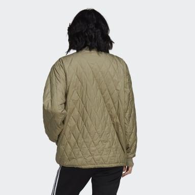 Chaqueta Adicolor Classics Quilted Verde Mujer Originals