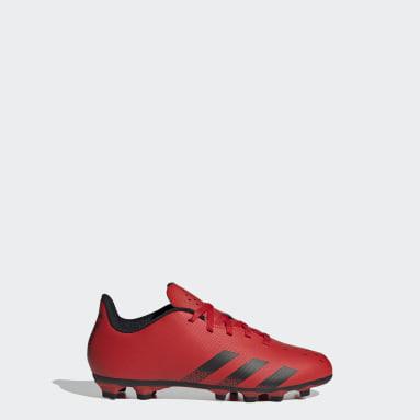 Children Soccer Red Predator Freak.4 Flexible Ground Cleats