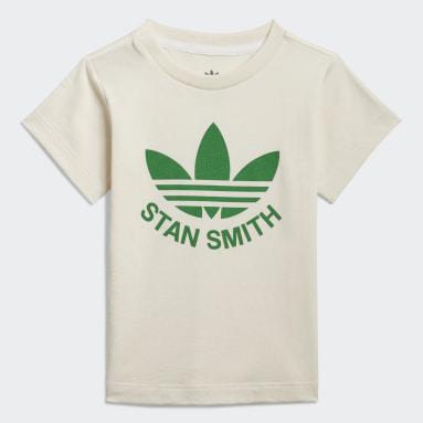 Kinderen Originals Wit Graphic Non-Dye Organic Cotton T-shirt