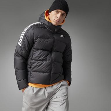 Muži Městský Outdoor černá Bunda Essentials Midweight Down Hooded